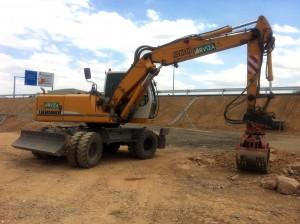 Excavadora de Excavaciones Arviza